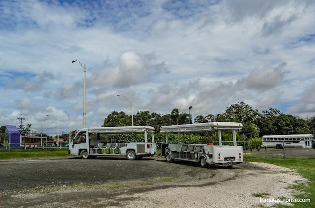 Trenzinho que percorre as ruínas de Panamá Viejo
