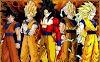 Dragon Ball Z - Goku 5 Niveaux de Transformation - Fond d'écran en Full HD 1080p