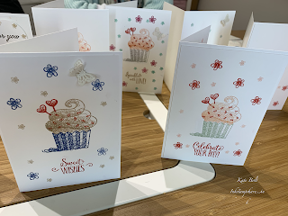 Birthday card using Hello Cupcake stamp set. Celebrate Your Day. Coffee and Cards.