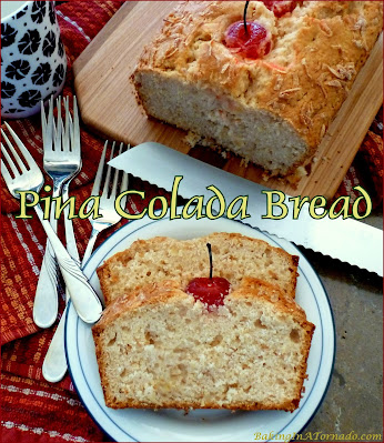 Pina Colada Bread, for the holidays or any occasion, features the flavors of a favorite cocktail baked into a bread. | Recipe developed by www.BakingInATornado.com | #recipe #bake