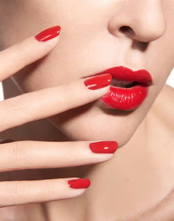 Red Dress Prom Makeup Ideas - lip and nails