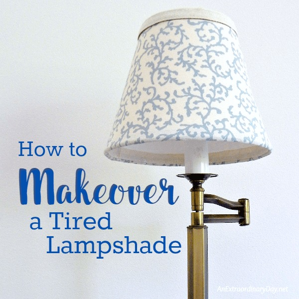 DIY, decorating, projects, ideas, lamp, refresh. At Home With Jemma