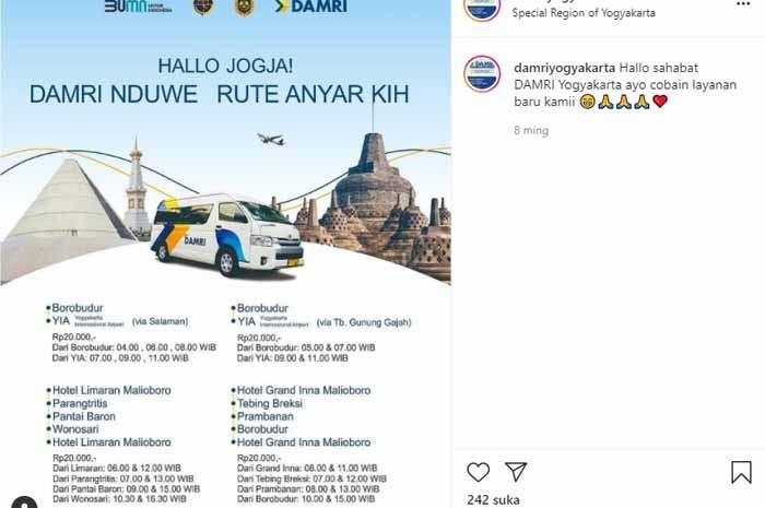 Damri Borobudur YIA: Ini Harga Tiket & Jadwal Bus