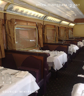 Indian Pacific train dining area info Data India