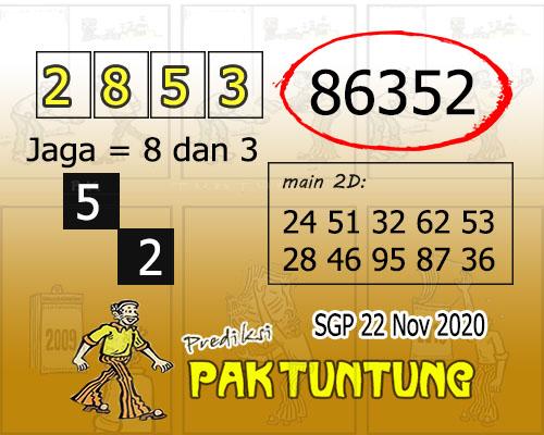 Pak Tuntung SGP Minggu 22 November 2020