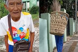 Miris, Kakek Renta Penjual Sapu Lidi Dicopet Dua Orang Bermobil, Inilah Kisahnya