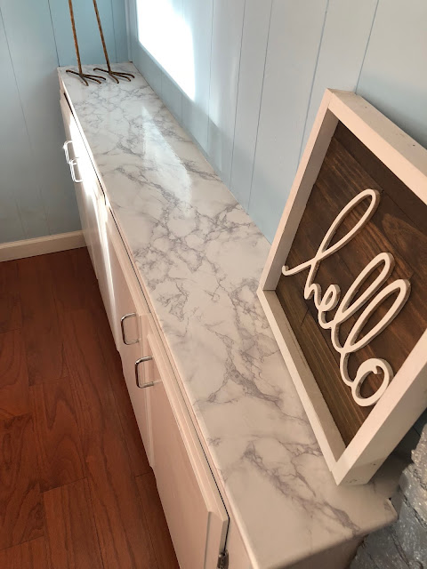 Faux marble counter top - easy and inexpensive