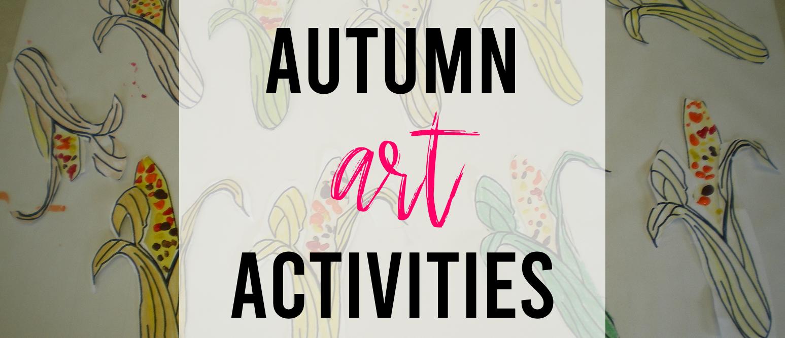 Simple fall art activity for Kindergarten