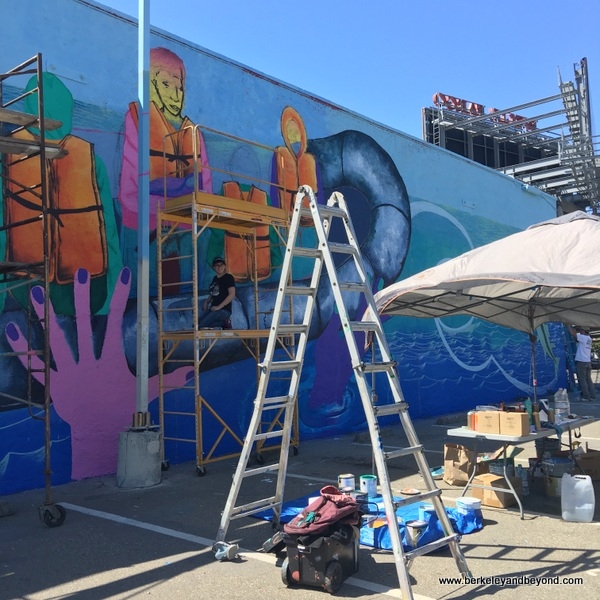 mural by Los Pobres Artistas at Jack London Square in Oakland, California