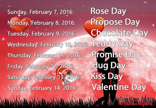 Valentines Week List 2017 Dates, Days, Schedule, Time Table, Calendar & Complete List