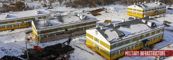 President on the construction of new dormitories for the military