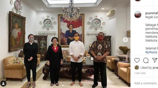 Sendirian Lepas Sepatu saat Berkunjung ke Rumah Megawati, Gibran Jadi Sorotan