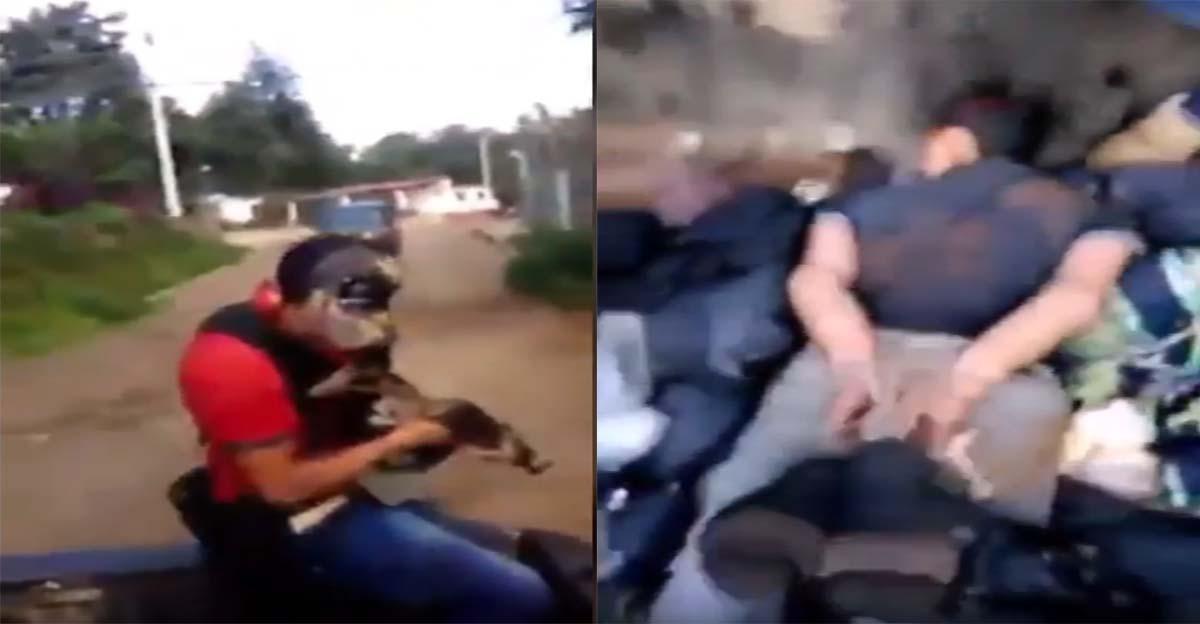 """VÍDEO """"Los Viagras"""" se graban levantando gente y aterrorizando los pueblos en Michoacán"""