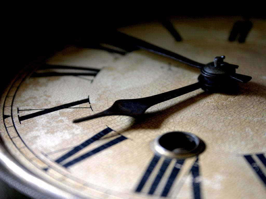 Um relógio marcando o tempo