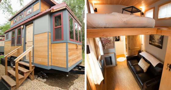 Tiny House Town The Golden Aspen From Weecasa 170 Sq Ft