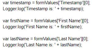 Auto generate Apps Script code lines