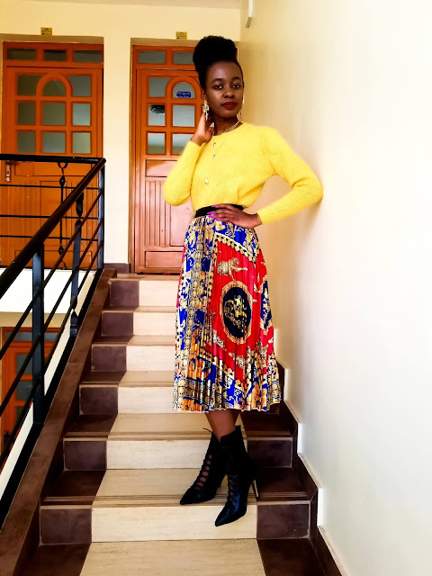 Happy New Year: Lessons, Goals, A Pleated Skirt Outfit