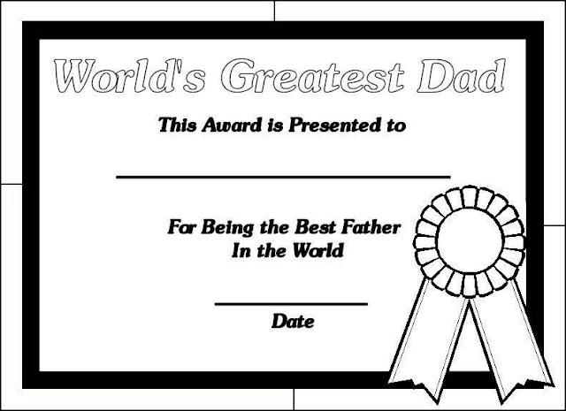 Diplomas días del padre en inglés para imprimir