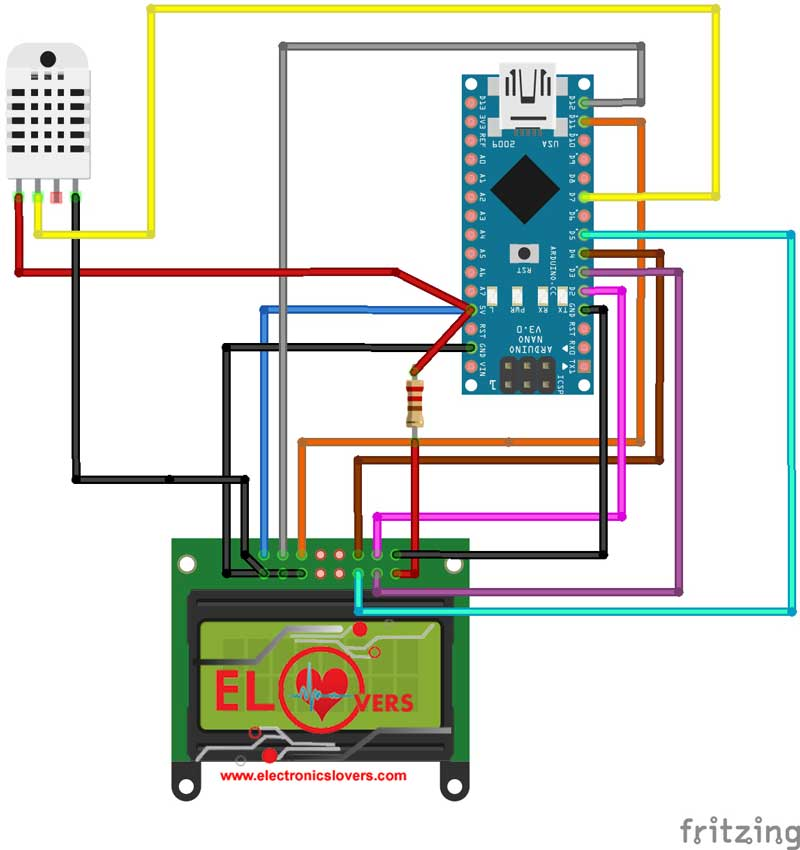 Interfacing of DHT11 Temperature and Humidity Sensor with Arduino Nano