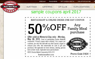Boston Market coupons april 2017
