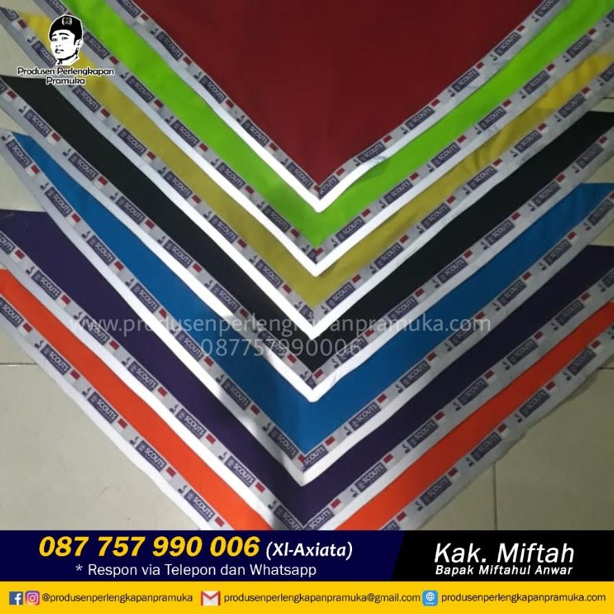 Produsen Scarf Pramuka Batik Produsen Scarf Pramuka 3 Warna