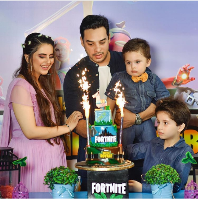 Fatima Effendi Husband and sons