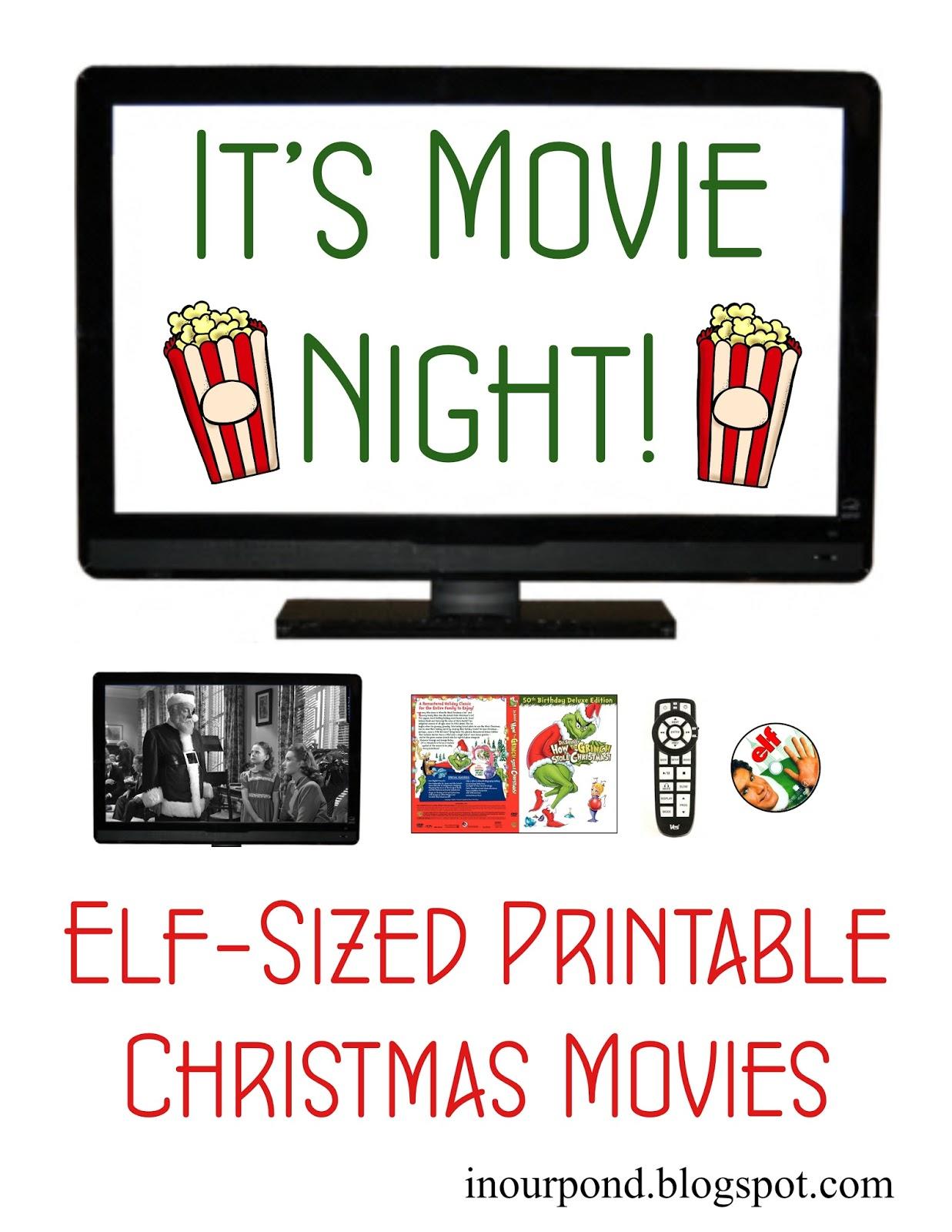 Elf Movie Night Free Printable In Our Pond