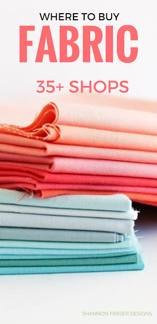 35+ Fabric Shops for Modern Quilters | Free Download | Shannon Fraser Designs | Quilting Cotton | Modern Quilting | Shopping Resource