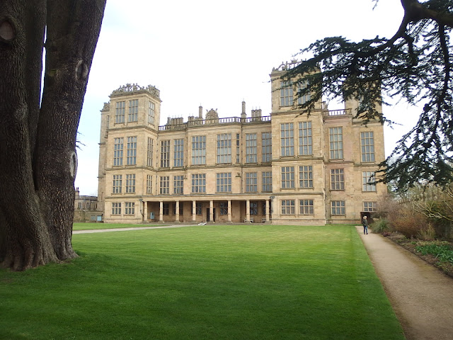 Hardwick Hall from the garden entranc
