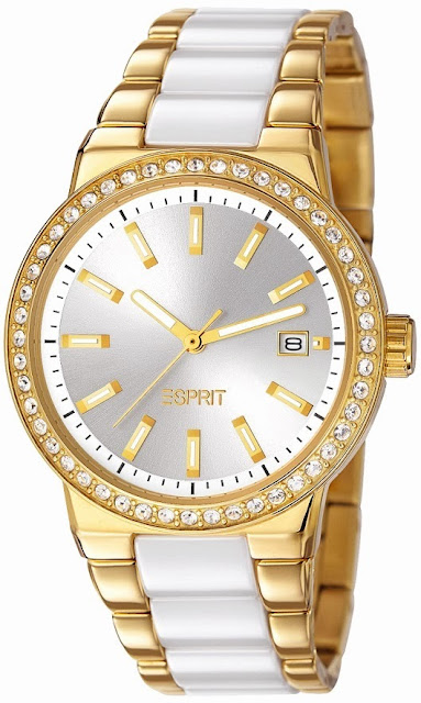 Esprit Opera of Allure Feather Ceramic Gold Watch Price India