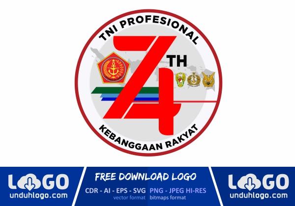 Logo HUT TNI 74 2019