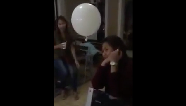 A balloon believed to be brought by the child to her mom.