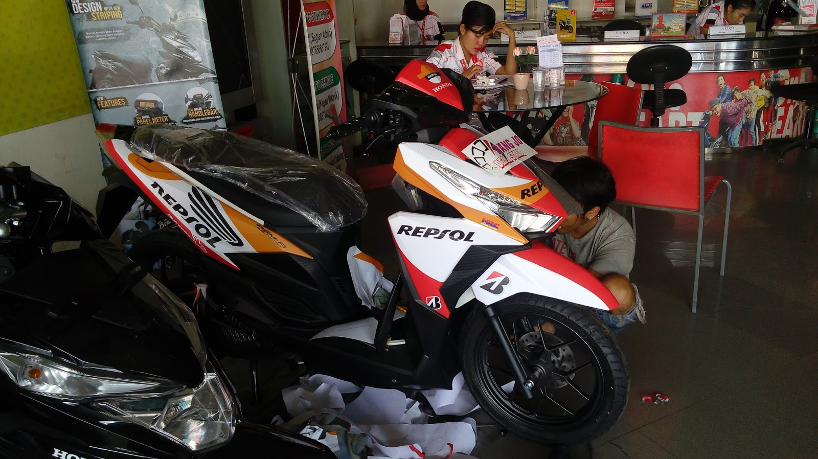 Sticker custom vario 150 printing decal