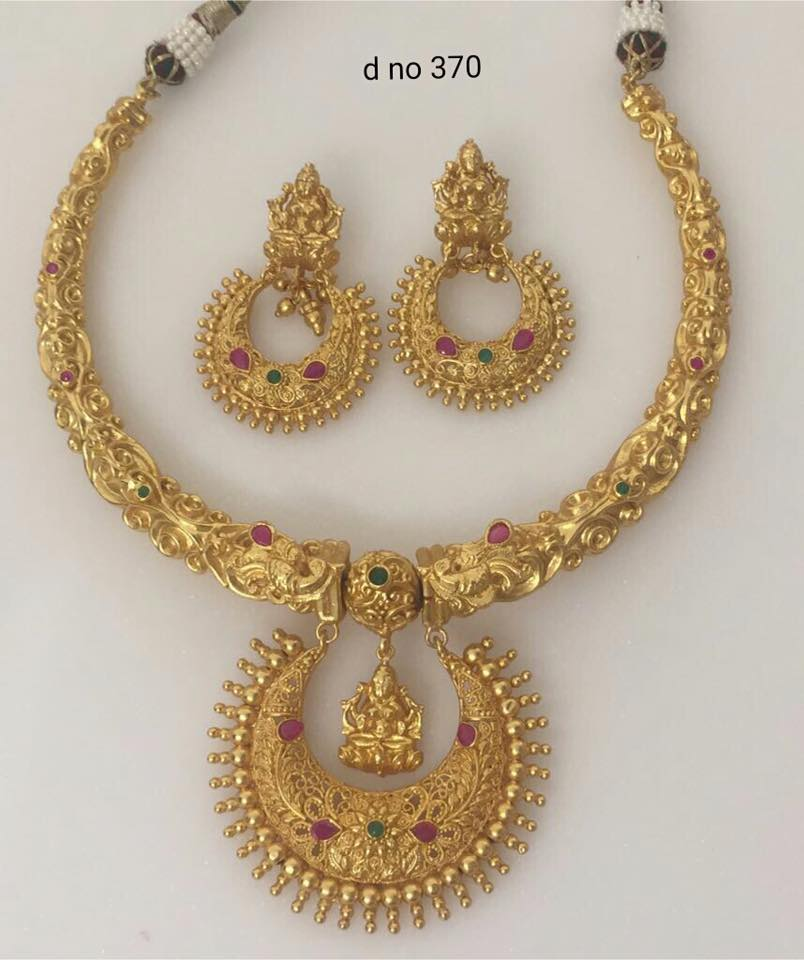 Brass Metal Gold Polish Necklaces - Jewellery Designs