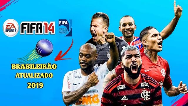 Fifa 14 mod fifa 19 brasileirão & europeu atualizado para android