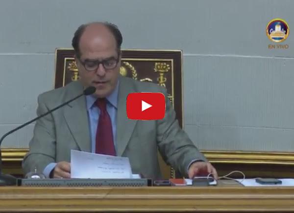 Asamblea Nacional declarando Abandono de cargo en directo