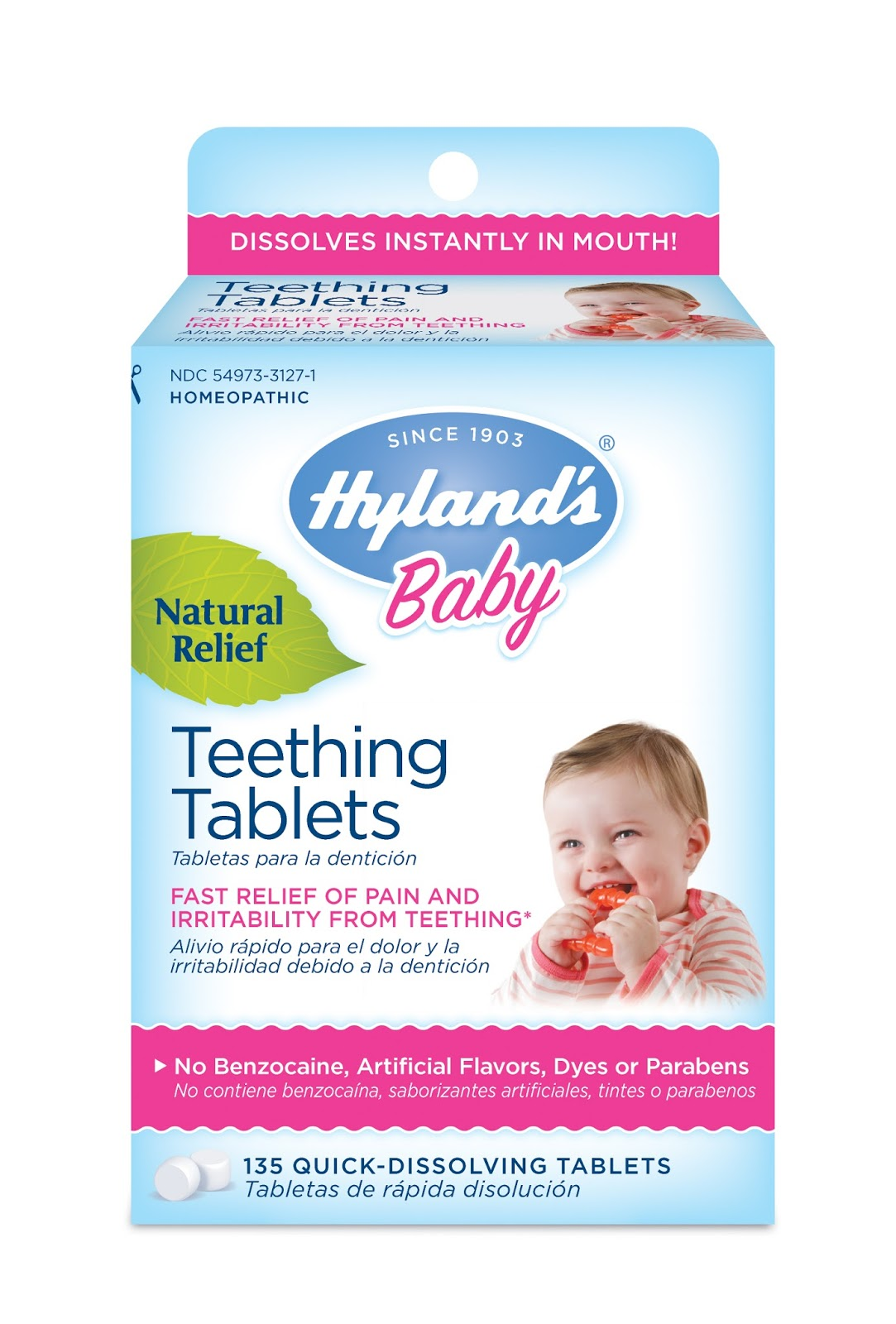Teething tablets natural