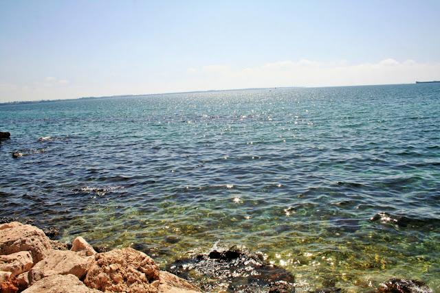 mare, scogli, sole, cielo, Taranto
