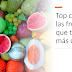 ¿Cuáles son las frutas que tienen más calorías? Top cinco de las frutas que tienen más calorías.