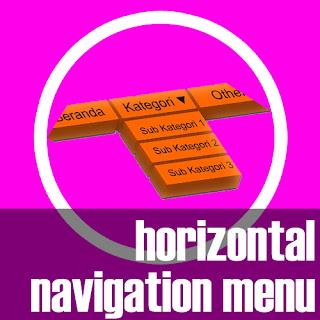 Menu Navigasi Horizontal