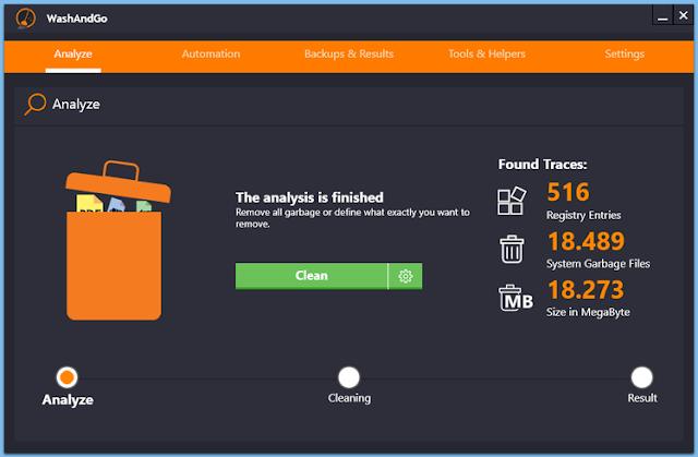 Screenshot Abelssoft WashAndGo 2020 v25.1.264 Full Version