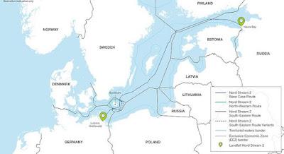 """Данія надала дозвіл на прокладання """"Північного потоку-2"""" через свої води російським кораблям"""