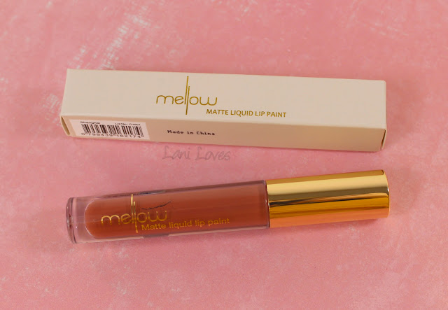 Mellow Cosmetics Matte Liquid Lip Paint - Shanghai swatches & review