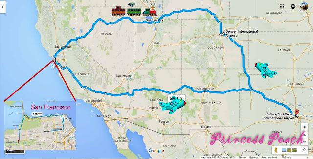 舊金山耶誕鐵路親子遊_序. 行程規劃 (US Christmas Family RailTrip_Prologue. Itinerary)