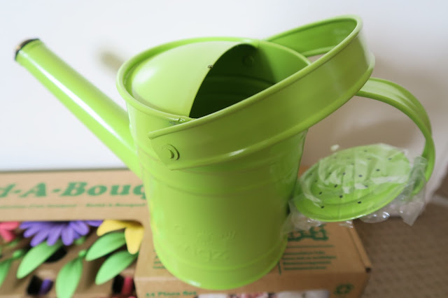 green watering can ideal for little hands