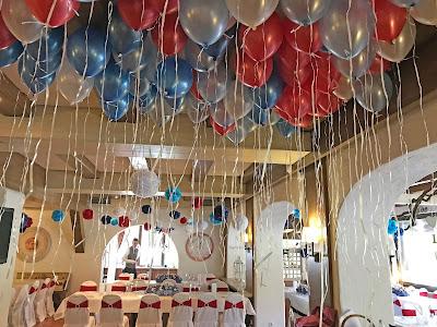 Ballons, Helium, Rot Liebe, Blau Treue, Weiß Unschuld, Farbschema, Hochzeit, heiraten in Garmisch, Bayern, Deutschland, Riessersee Hotel, Hochzeitshotel, Hochzeitsplanerin Uschi Glas