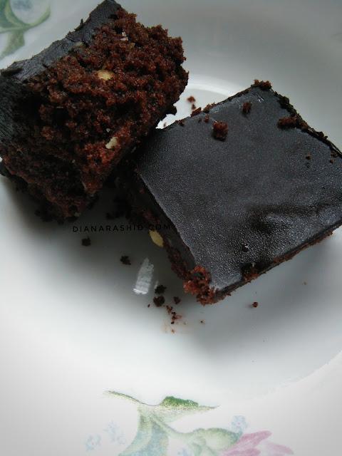 resepi coklat cake bar