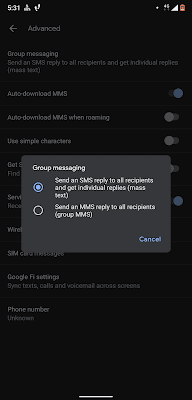 can't respond to group text on android