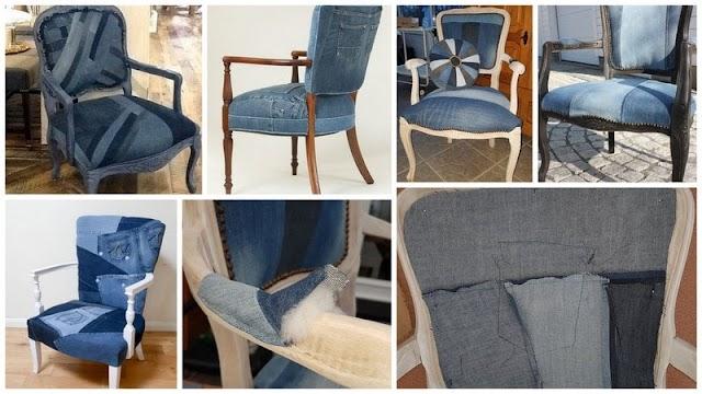 Ανανεώστε παλιές Πολυθρόνες - Καρέκλες με μια DIY Ταπετσαρία από παλιά σας ...Τζην