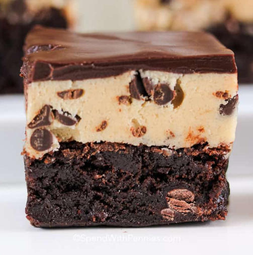 Cookie Dough Brownies #desserts #brownies #cookies #cakes #pie